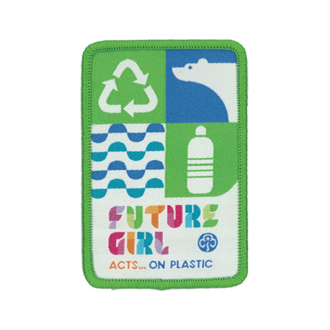 Future Girl Acts On Plastic Woven Badge