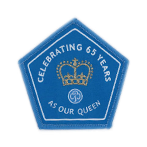 65 Years British Monarch Woven Badge