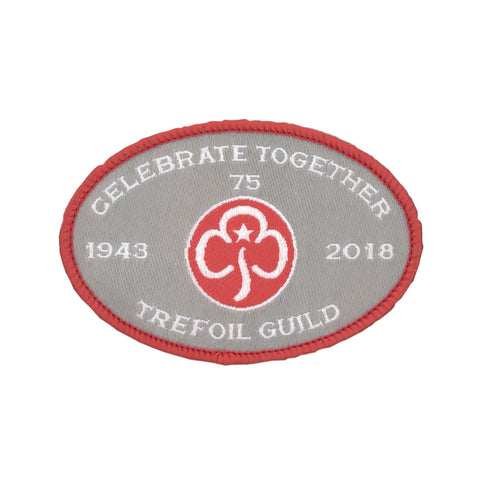 Trefoil Guild 75th woven badge