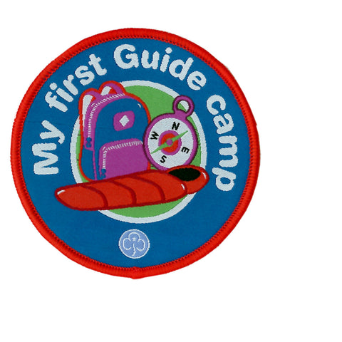 My First Guide Camp Woven Badge