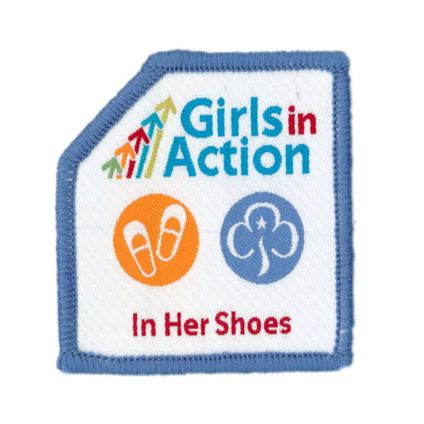 Girls In Action In Her Shoes Woven Badge