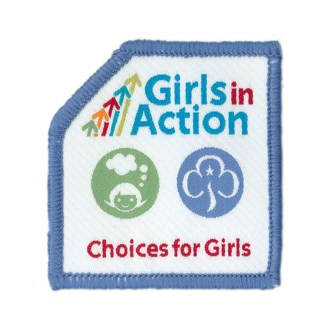 Girls In Action Choices For Girls Woven Badge