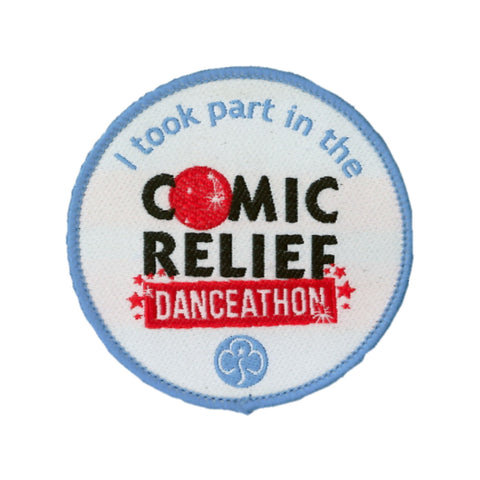 Comic Relief Danceathon Woven Badge