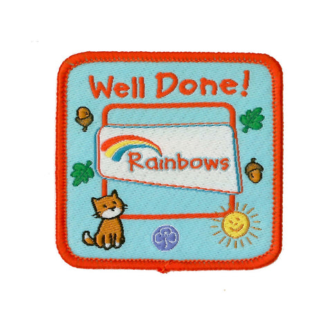 Rainbow Well Done Woven Badge
