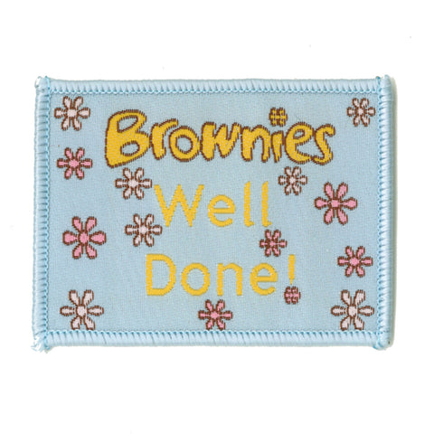Old Style Brownies Well Done Woven Badge