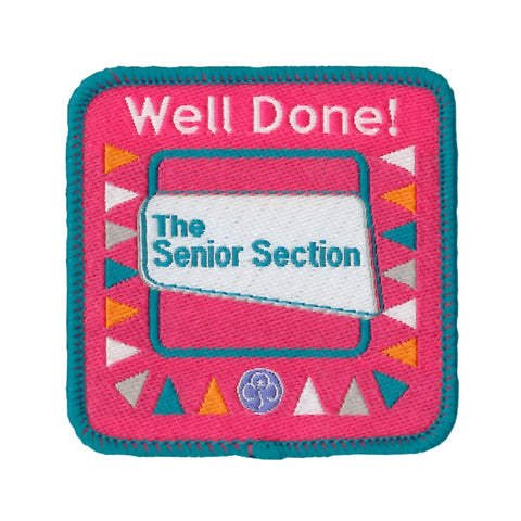 The Senior Section Well Done Woven Badge