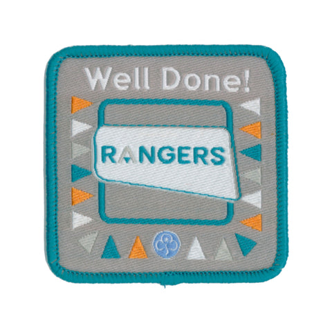 Rangers Well Done Woven Badge