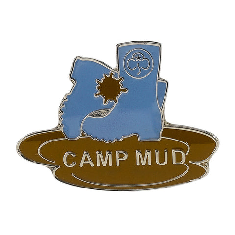 Camp Mud Metal Badge