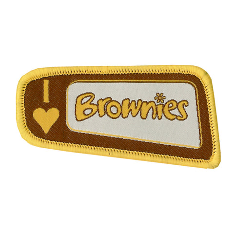 I Love Brownies Woven Badge