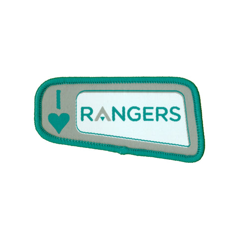 I Love Rangers Woven Badge