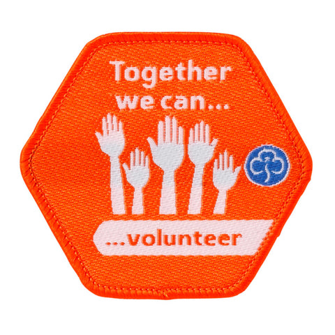 Together We Can Volunteer Woven Badge