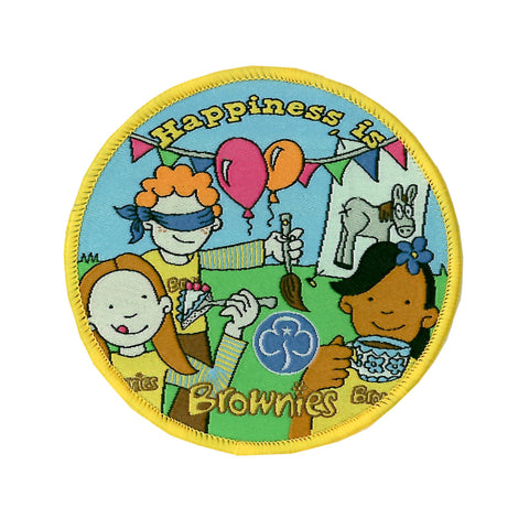 Happiness is Brownies Woven Badge