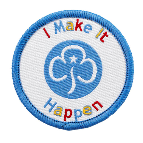 I Make It Happen Woven Badge