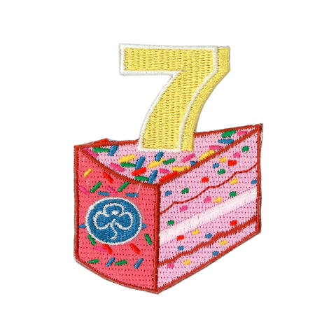 Happy 7th Birthday Embroidered Badge