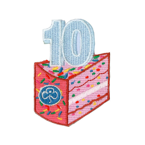 Happy 10th Birthday Embroidered Badge