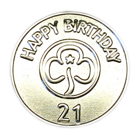Happy 21st Birthday Metal Badge