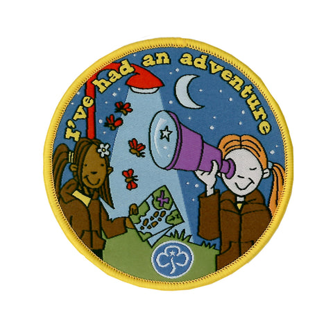 Brownie Adventure Holiday Woven Badge