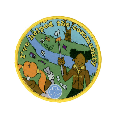 Brownies I've Helped the Community Woven Badge