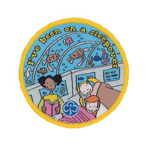 Brownies I've Been on a Sleepover Woven Badge Aquarium