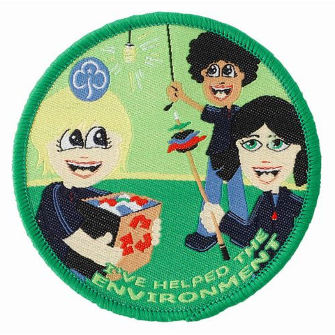 Guides I've Helped My Environment Woven Badge