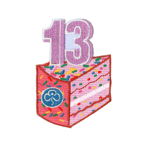 Happy 13th Birthday Embroidered Badge