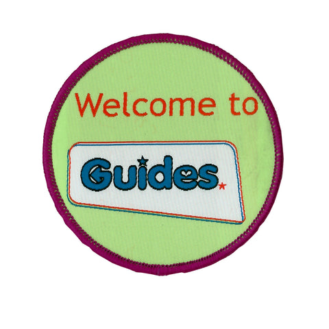 Welcome to Guides Woven Badge