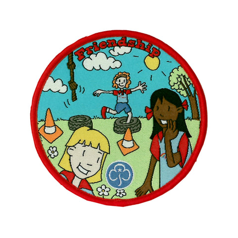 Rainbows Friendship Fun Woven Badge
