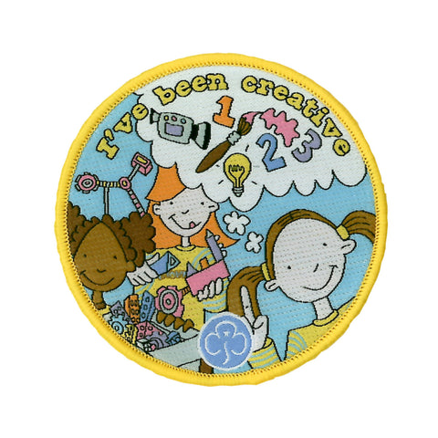 Brownie I've Been Creative Woven Badge