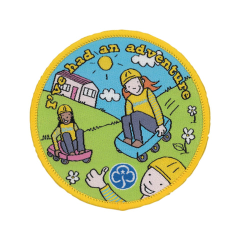 Brownie I've Had an Adventure Holidays woven badge