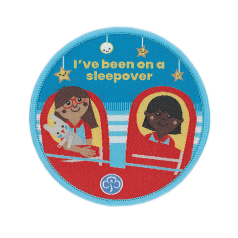 Rainbows I've Been on A Sleepover Woven Badge