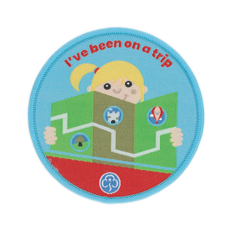 Rainbows I've Been on a Trip Woven Badge