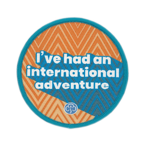 Rangers I've Had an International Adventure Woven Badge