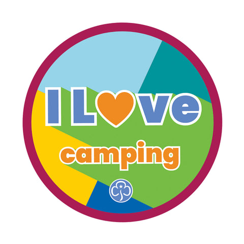 I Love Camping Woven Badge
