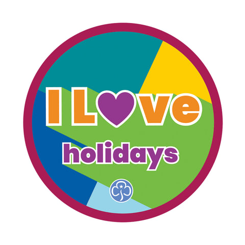 I Love Holidays Woven Badge