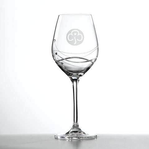 Glitz Crystal Wine Glass