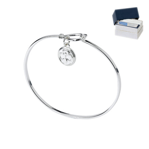 Bangle with Trefoil Charm