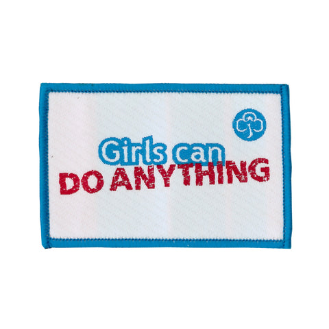 Girls Can Woven Badge