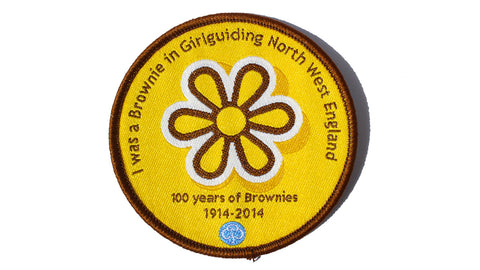I Was a Brownie In North West England Woven Badge
