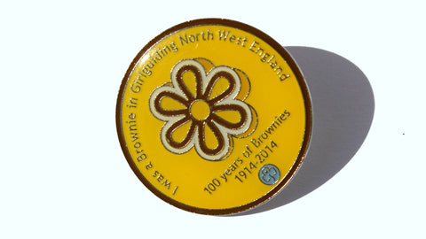 I Was a Brownie In North West England Enamel Badge