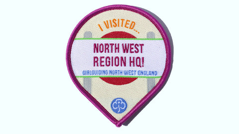 I Visited Girlguiding North West England Region HQ Badge