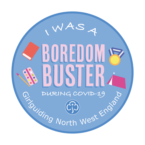 I Was A Boredom Buster During Covid-19 Woven Badge