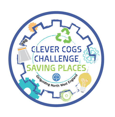 Clever Cogs Challenge Saving Places Woven Badge