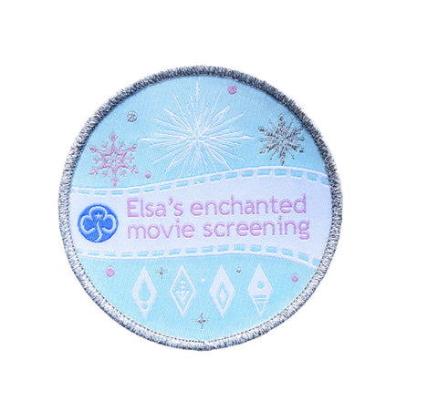 Elsa's Enchanted Movie Screening (Frozen 2 Woven Badge)