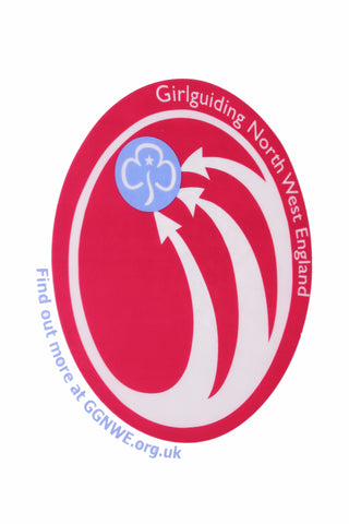 Girlguiding North West England Logo Car Sticker