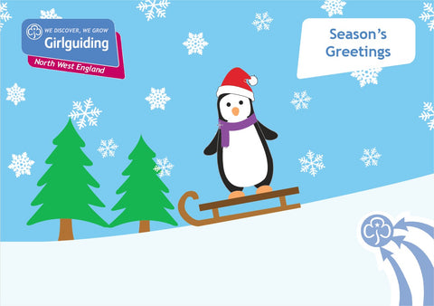 Girlguiding North West England Christmas Cards Penguins
