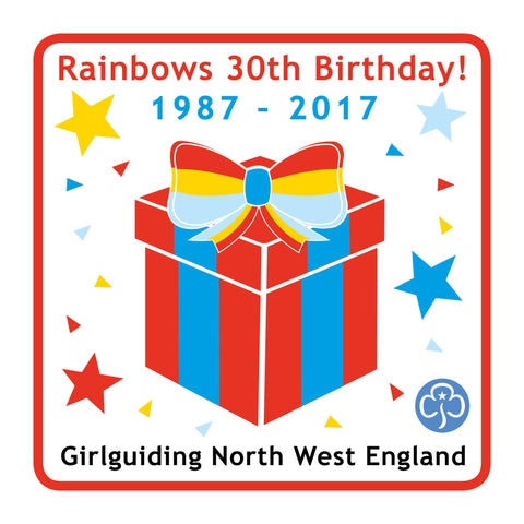 Rainbows 30th Birthday Woven Badge