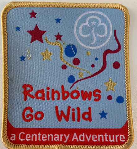 Rainbows Go Wild Woven Badge