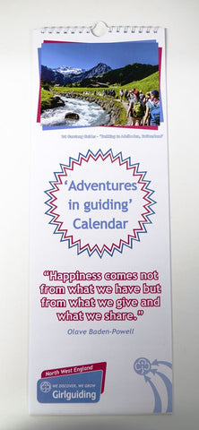 Girlguiding North West England Adventure Calendar