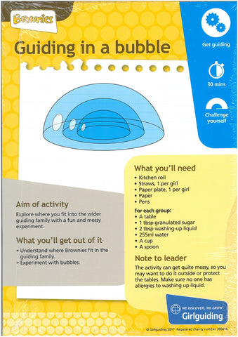 Brownies - Unit Meeting Activity Pack 3 - Guiding in a Bubble