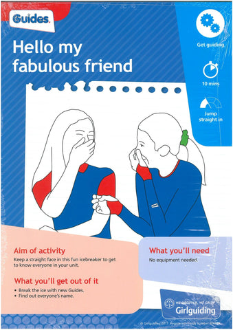 Guides - Unit Meeting Activity Pack 3 - Hello My Fabulous Friend